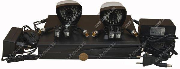 комплекты видеонаблюдения улицы цена-Комплект AHD видеонаблюдения SmartAVS 1002 AHD kit