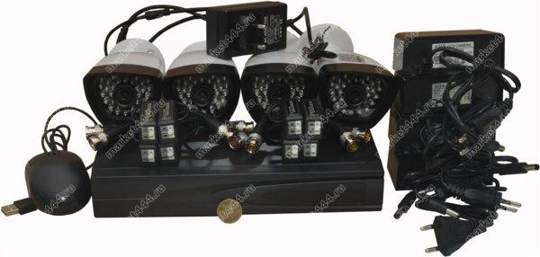 комплекты видеонаблюдения улицы цена-Комплект AHD видеонаблюдения SmartAVS 1004 AHD kit