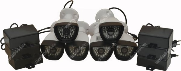 комплекты видеонаблюдения улицы цена-Комплект AHD видеонаблюдения SmartAVS 1006 AHD kit