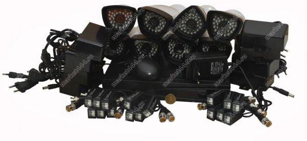 комплекты видеонаблюдения улицы цена-Комплект AHD видеонаблюдения SmartAVS 1008 AHD kit