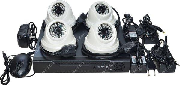 комплект видеонаблюдения для квартиры-Комплект IP видеонаблюдения SmartAVS 1024 Kit