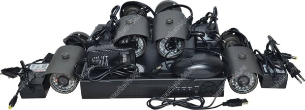 комплект видеонаблюдения для квартиры-Комплект IP ВидеоНаблюдения SmartAVS 5024 Kit