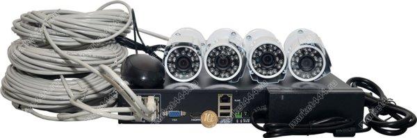 комплекты видеонаблюдения улицы цена-Комплект ВидеоНаблюдения SmartCam IP 768E