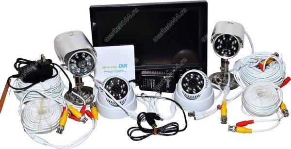 комплекты видеонаблюдения улицы цена-Комплект ВидеоНаблюдения SmartVisor D1000