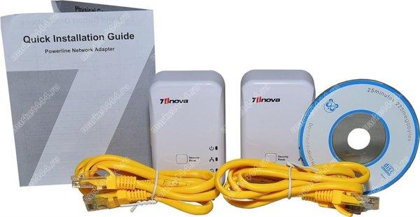 Оборудование для систем видеонаблюдения-PLC адаптер 7HP120