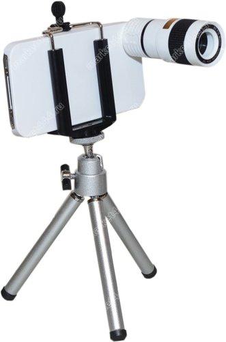 Фототехника-Телеобъектив для IPHONE Z3 (белый) Zoom 8